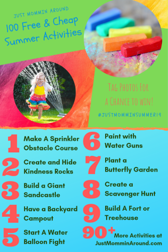 List of 1-9 free & cheap summer activities