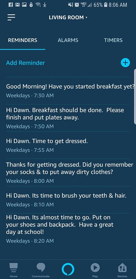 Alexa morning routine